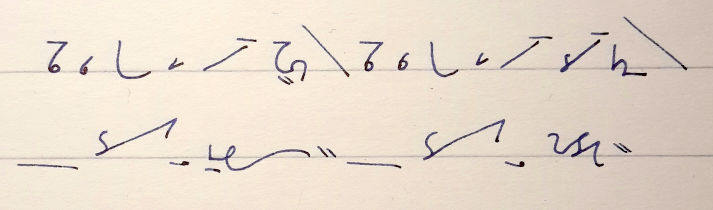 20150204 This is how I write Teeline. This is how I write shorthand.